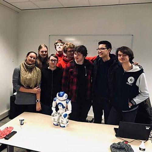 Gastles over robots en technologie Middelbaar beroepsonderwijs software en apps voor robots