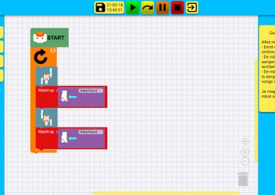 Zelf een robot programmeren voor leerlingen op school